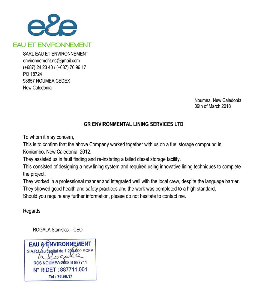 review by Eau Et Environnement